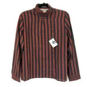 VTG Diane Von Furstenberg 14 Stripe Asymmetrical B